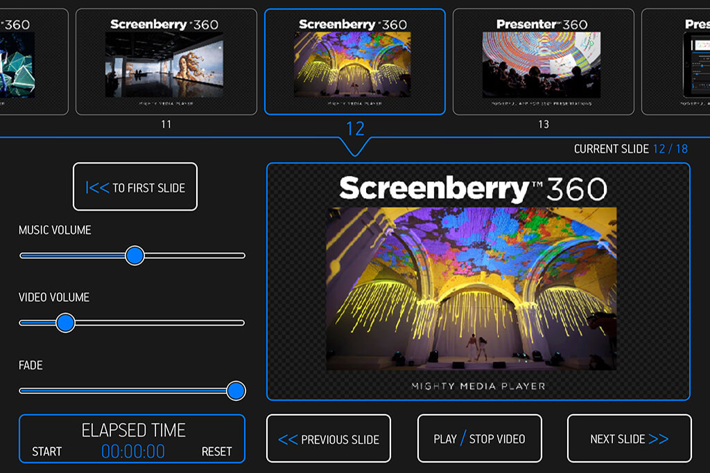 FDDB – Presenter360: Fulldome Slideshow Software by Front Pictures