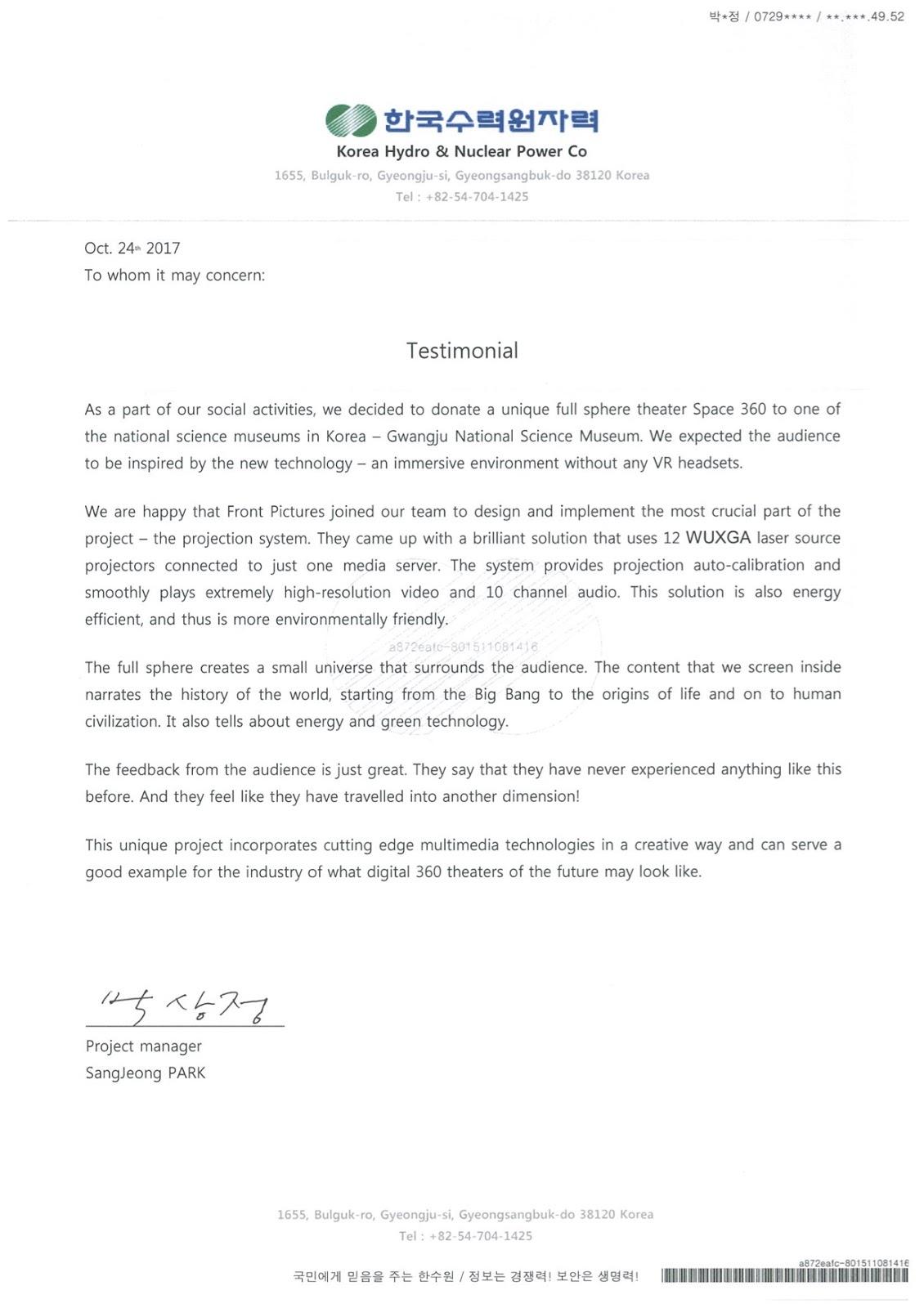 Testimonial_KHNP