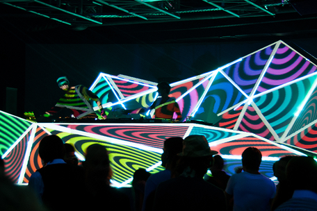 3D Mapped DJ Booth at Timo Maas Show